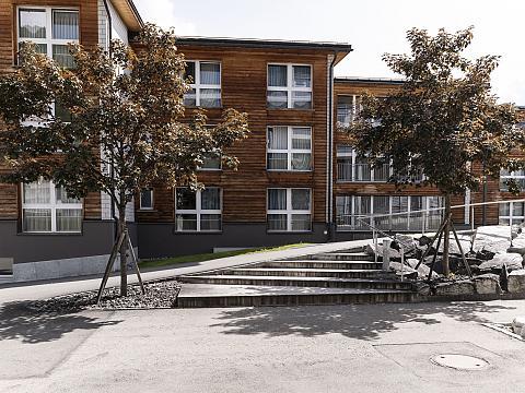 Studentenhäuser auf dem Campus der HFT Graubünden
