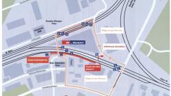Das neue Aussenperron direkt am Max-Daetwyler-Platz mit dem Gleis 0 ist ab Oktober 2017 bereit für den Betrieb. (Bild: SBB AG)