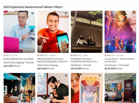 Online Erfahrungen airbnb.ch